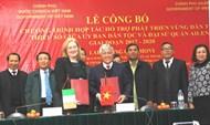 Công bố Chương trình hợp tác Hỗ trợ phát triển vùng dân tộc thiểu số giữa Ủy ban Dân tộc và Đại sứ quán Ireland