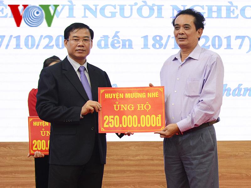 """Điện Biên: Phát động tháng cao điểm ủng hộ Quỹ """"Vì người nghèo"""""""