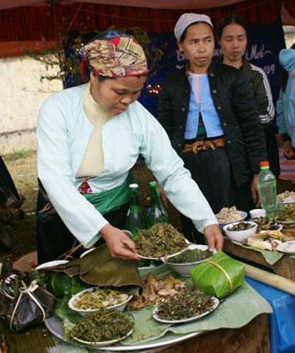 Tộp-rộp, món ăn dân dã của người Mường